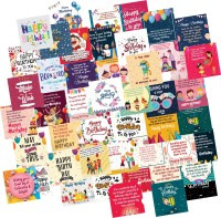 ODDCLICK Set of 48 Birthday Cards For Explosion Box or Other DIY Love Greeting Cards Greeting Card(Multicolor, Pack of 48)