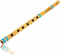 SG Musical 15.5 Inch Authentic Indian Wooden Bamboo Flute in 'A' Key Fipple Woodwind Musical Instrument Recorder Traditional Bansuri Bamboo Flute(43 cm)