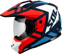 SOL Wild Motorbike Helmet(Blue, White, Red)