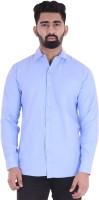 BEST BRAND Men Solid Casual Light Blue Shirt