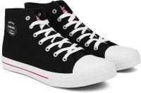 Woodland Grafton Canvas Shoes For Men(Black)