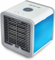 Harmony 0.5 L Room/Personal Air Cooler(White, Blue, Air Cooler Portable/Desktop Dual Bladeless Fan Air Pack)