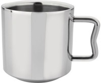 RISHI METAL Stainless Steel Cup & Mug for Tea & Coffee (70mm) - Set of 6 - 140ml Stainless Steel(Steel, Pack of 6)