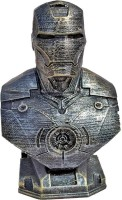 Uneeke Shape Ironman Bust : Marvel Super hero legend bust for kids room decor showpiece, antique style Avengers end game action figure(Silver)
