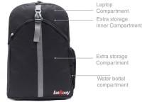Leerooy SSENT- LEE-BAG-GREY-BLK--06021 17 L Laptop Backpack Black