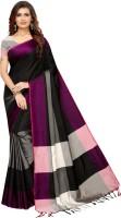 HITESH ENTERPRISE Woven Fashion Cotton Silk Saree(Black)