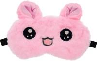 Jenna Fur Kitty Pink Sleeping Eye Mask for Insomnia, Meditation, Puffy Eyes and Dark Circles Eye Shade(White, Pink)