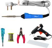 Hillgrove 6in1 25W Soldering Iron Kit   Soldering Wire   Tester   Wire Cutter Glue Gun Sticks 25 W Simple(Flat Tip)