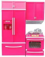 PRESENTSALE 2 fold Doll House Kitchen set for kids with light music KIDS KITCHEN SET(Pink)