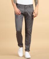 Arrow Sports Slim Fit Men Grey Trousers