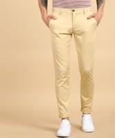 Arrow Sports Slim Fit Men Beige Trousers