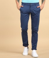 Arrow Sports Slim Fit Men Blue Trousers