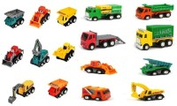 ALLAMWAR Autom obile Vehicle Car Set Toys 16 Pack Mini Construction Vehicle Toys Mini Cars Vehicles Pull Back Push(Multicolor, Pack of: 16)