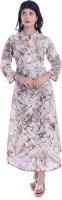 Women Kurta Printed Marble Cotton Casual wear Anarkali Kurti