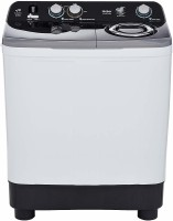 Haier 8.5 kg Semi Automatic Top Load Black, White, Grey(HTW85-186S)