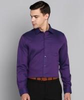 Arrow Men Self Design Formal Purple Shirt