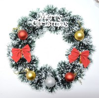 ONRR COLLECTIONS Christmas Wreath(Silver Pack of 1)