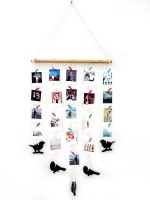 VAH Macrame with birds Wall Hanging Pictures Organizer 10 inch Photo Wall Hanging(1 GB, Multicolor)