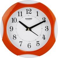 Kadio Analog 20 cm X 20 cm Wall Clock(Orange, With Glass)