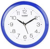 Kadio Analog 22 cm X 22 cm Wall Clock(Blue, With Glass)