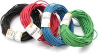 Electronicspices Red 10 m, Green 10 m, Blue 10 m and Black 10 m Electric wire , Model Building Tools for Working Models, DIY Science Experiment Red, Black, Green, Blue 40 m Wire(MULTI COLOR)