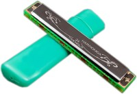 MGP Fashion Tremolo Harmonica Wide Vocal Range Instrument 24 Hole 48 Tone Key C easy to Play Mouth Organ(Multicolor)