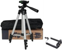 webster Adjustable Portable Lightweight Camera Stand Tripod-3110 With Three-Dimensional Head & Quick Release Plate For Video Cameras Digital Cameraand mobile clip holder for Mobiles Smartphones Mobile Holder