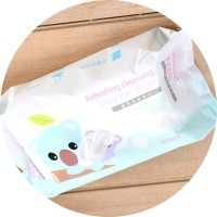 XIMI VOGUE Refreshing Cleansing Cute Baby Cool Wet Wipes