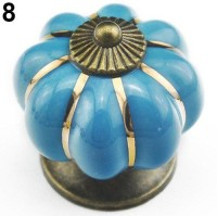 Bluelans Vintage Ceramic Door Knob Cabinet Drawer Wardrobe Cupboard Kitchen Pull Handle