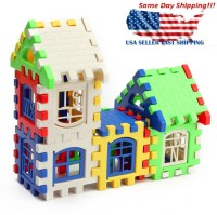 24Pcs Baby Kids Fun Bricks House Building Blocks Construction Set Learning Toys