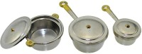 3Pcs Mini Miniature Dollhouse Furniture Cookware Pots Saucepan Kitchen Tools