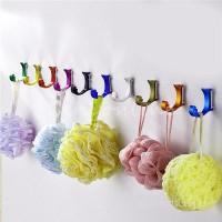 Universal Multicolor Aluminum Alloy Family Wall Hangers Kitchen Wardrobe Balcony bathroom storage locker single crochet hooks