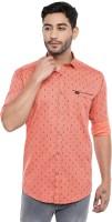 Kevin Swift Men's Printed Regular fit Casual Shirt (rt02orangem_Orange_M)