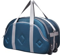Fast look (Expandable) super premium quality polyester light weight duffel bag (sea green) Duffel Strolley Bag(Blue)