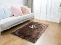 CHETANYA LOOMTEX Brown Wool Carpet(40 cm  X 60 cm)