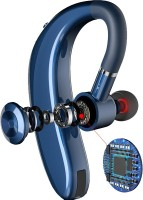 GUG 18 Hours of Calling With 1 Hour Charge With Mic For All Mobiles Bluetooth Headset with Mic(Blue, In the Ear)