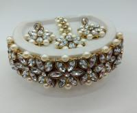 Aashish Imitation Alloy Jewel Set(White, White)