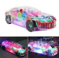 Toyvala 3D Super Car Toy, Car Toy for Kids with 360 Degree Rotation, Gear Simulation Mechanical Car, Sound & Light Toys for Kids Boys & Girls(Multicolor, Pack of: 1)