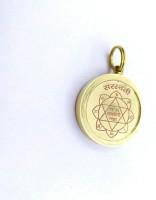Raviour Lifestyle Shri Saraswati yantra Pendant Brass Pendant