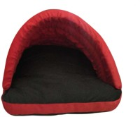 Hiputee Durable Velvet Comfortable Foam Red-Black Small (60x50x40 cms) Cat, Dog Den