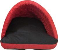 Hiputee Durable Velvet Comfortable Foam Red-Black Small (70x50x40 cms) Cat, Dog Den