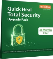 QUICK HEAL Total Security 1 User 3 Years (Renewal)(CD/DVD)