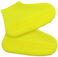 Hridaan Non-Slip Silicone Rain Boot Shoe Cover Waterproof Reusable Foldable Overshoes For Men Women Outdoor Sport with Excellent Elasticity Silicone Yellow Boots Shoe Cover(Free Size Pack of 2)