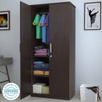 Flipkart Perfect Homes Julian Engineered Wood 2 Door Wardrobe(Finish Color - Espresso)