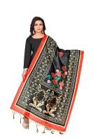 DP Creation Art Silk Floral Print Women Dupatta