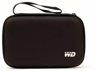 WD WdK 2.5 inch Hard Disk Case | Hard Disk Pouch(For 2.5 inch External Hard Disks, Black)