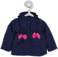 612 League Full Sleeve Solid Baby Girls Jacket