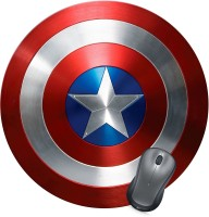 Golden Feather Captain America Shield Designer Mousepad 01 Mousepad(Multicolor)