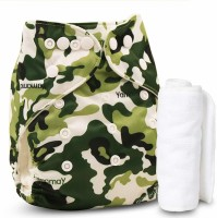 Baby Reusable Pack of 1 with 1 Liner) New Adjustable (for All Sizes) Reusable Lot Baby Washable Cloth Diaper Nappies for Babies of Ages 0 to 2 Years, (Color May Vary)…