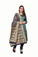 Anand Jacquard Embellished Kurta & Churidar Material(Unstitched)